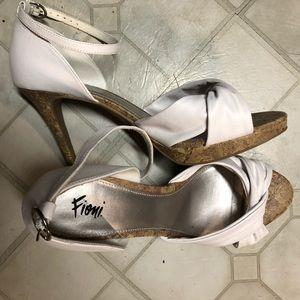 Fioni white cork heels!